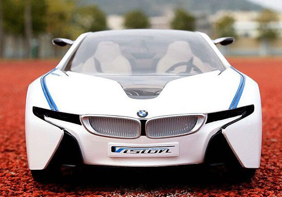 1:14 Scale White-Blue Full Function R/C BMW Car Toy