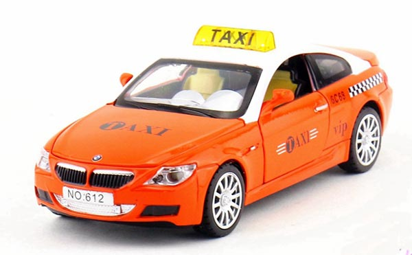 1:32 Green / Red / Yellow / Orange Diecast BMW M6 Taxi Car Toy