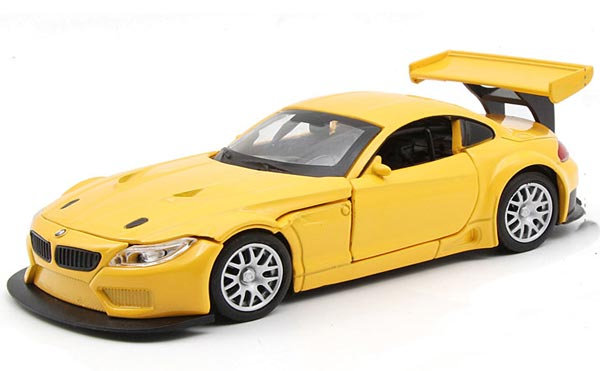 1:32 Scale White / Red / Yellow Kids Diecast BMW Z4 GT3 Car Toy