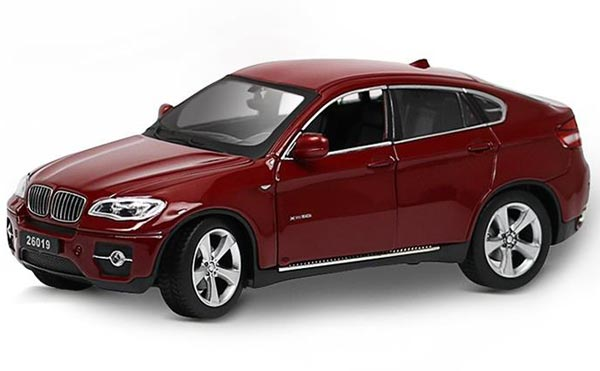 1:24 Scale Kids White /Black / Wine Red Diecast BMW X6 Car Model