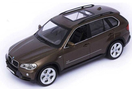 Kids 1:18 Scale Red / Brown Kids R/C BMW X5 Car Toy