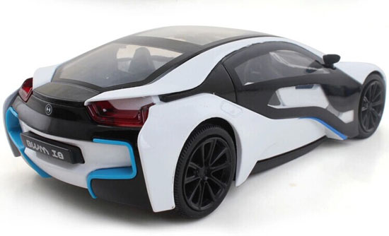 1:32 Scale Kids Blue / White / Silver Diecast BMW I8 Car Toy