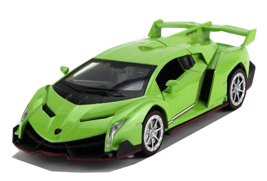 Kids 1:32 Scale Yellow / Pink / Gray / Green Lamborghini Veneno