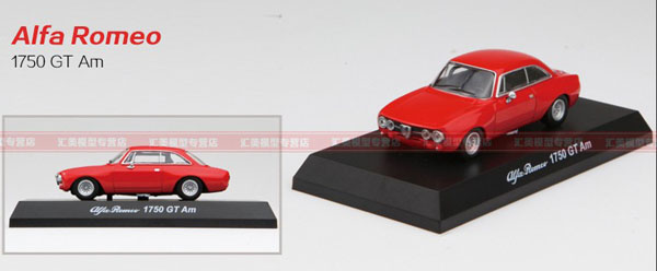 Red / White 1:64 Scale Diecast Alfa Romeo 1750 GT Am