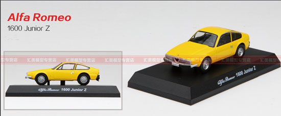 1:64 Scale Red / White /Yellow Diecast Alfa Romeo 1600 Junior Z