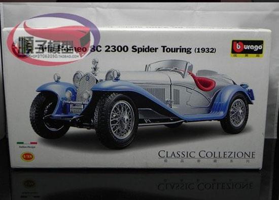 1 18 Scale Blue Silver Diecast Alfa Romeo 8c 2300 1932 Model At01t0030 Vktoybuy Com