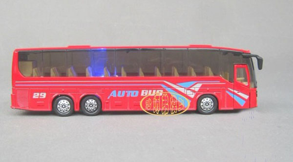 Kids Yellow / Red / Black / White Tour Bus Toy