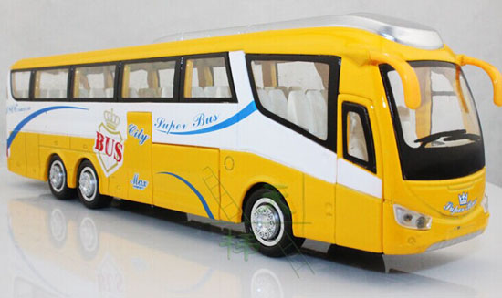 Kids Large Scale Red / Yellow / Blue Luxury Tour Bus Toy