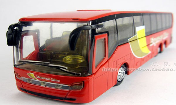 Kids Red / Blue / White Airport Shuttle Theme City Bus Toy