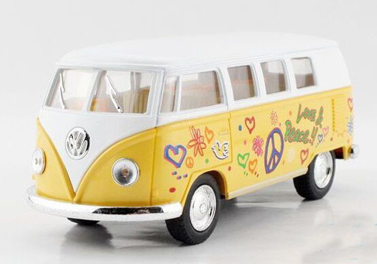 Kids 1:36 Red / Yellow / Green / Purple Diecast VW Bus Toy
