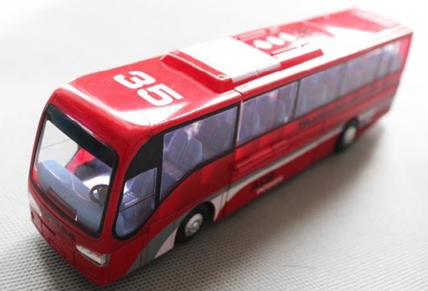 Kids Red / Blue / White Transformers Theme Tour Bus Toy