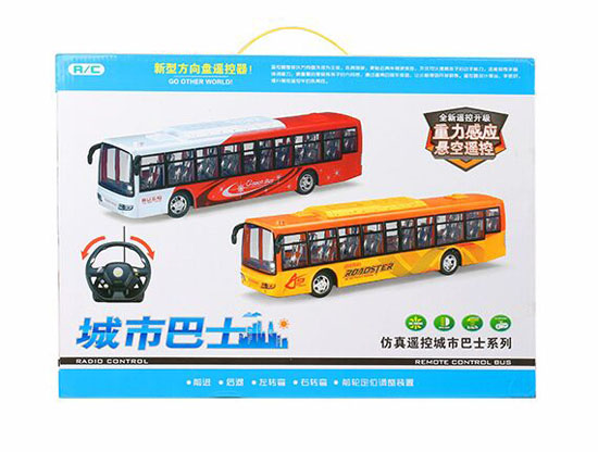 Kids 1:32 Scale Red / Blue R/C City Express Bus Toy