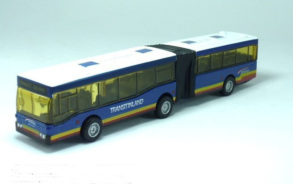 Kids Red / Blue / Yellow Articulated City Bus Toy