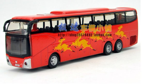 Red Blue White Green Kids Provincial Tour Bus Toy