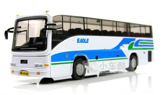 1:32 Scale White-Blue GuangZhou Tour Bus Model