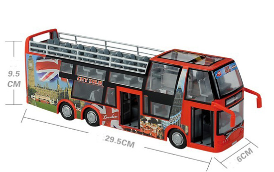 Kids Yellow Red Large Size Double Decker Bus Toy
