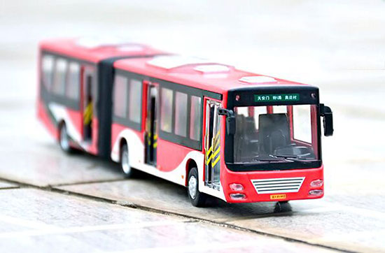Long Size Yellow / Red / White / Green BeiJing Articulated Bus
