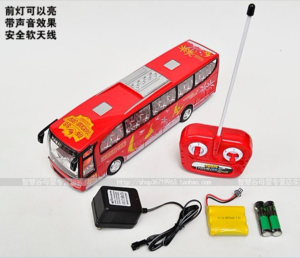 1:32 Scale Full Function Kids Red R/C Hawaii City Bus