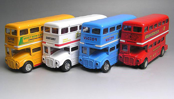 Kids Red / Yellow / White / Blue London Double-Decker Bus Toy