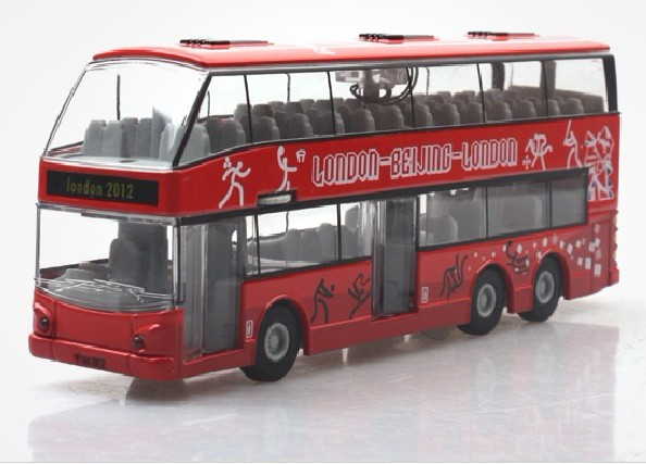 1:32 Scale Kids Red 2012 Olympic Double-Decker Bus Toy