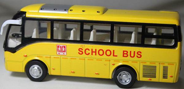 1:32 Scale Yellow / Blue / White Kids School Bus Toy