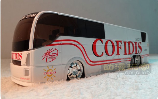 1:50 Scale White TOUR DE FRANCE COFIDIS Tour Bus Model