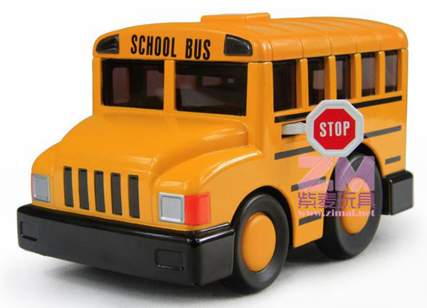 Bright Yellow Pull-Back Function Kids School Bus Toy