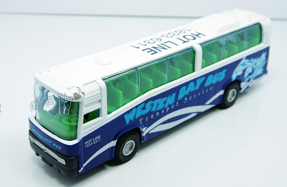 Kids Blue-White WESTEN BAY Tour Bus Toy