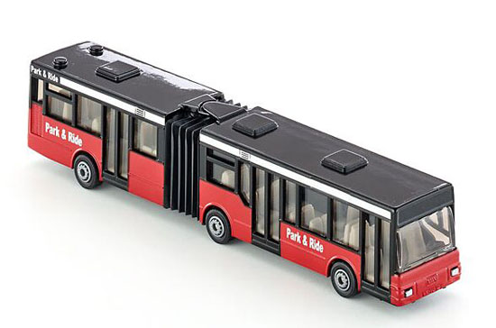 Kids Red-Black SIKU 1617 Articulated City Bus Toy