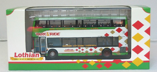 1:76 Scale Green-White CMNL Britain Double-decker Bus Model