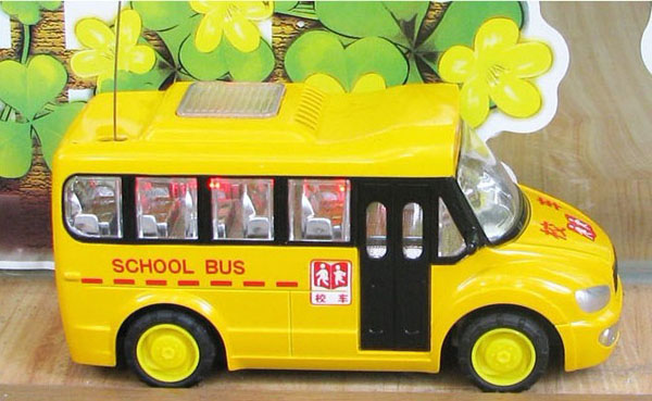 Full Function Kids Yellow R/C School Bus Toy