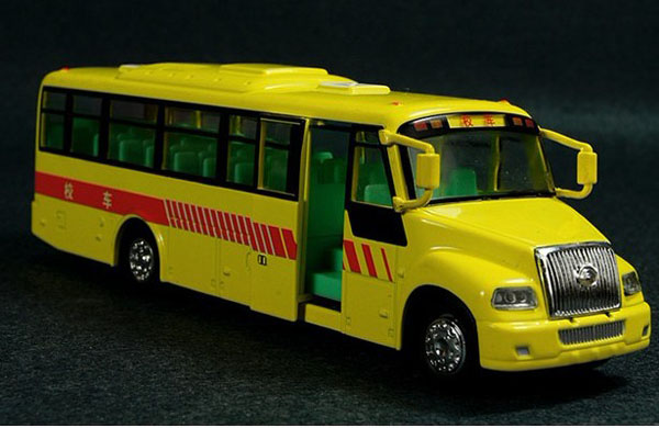 Chinese Style Kids Bright Yellow School Bus Toy