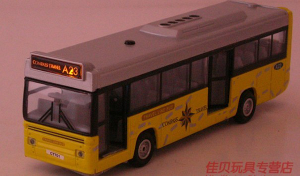 Kids Pull-Back Function Red / Yellow City Bus Toy