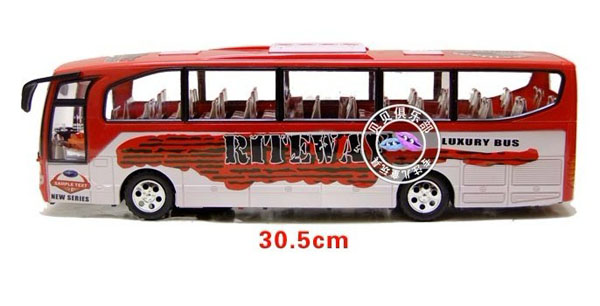 Kids Large Scale Red Plastic Electric Tour Bus Toy