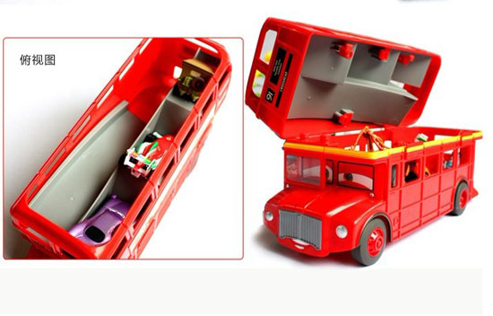 Plastic Red Kids Mattel V3616 Double Decker Bus Toy