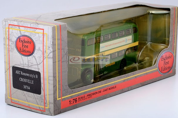 Green 1:76 Scale EFE AEC Renown style B CROSVILLE Bus