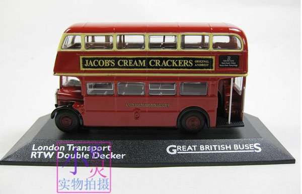 1:76 Scale Red ATLAS London Transport RTW Double Decker Bus
