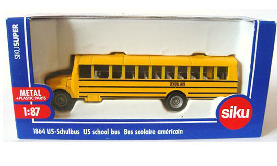 Kids Yellow 1:87 Scale SIKU 1864 U.S. School Bus Toy