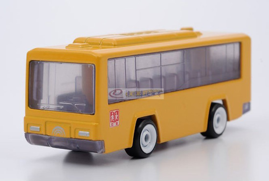 Kids Mini Scale Yellow Chinese School Bus Toy