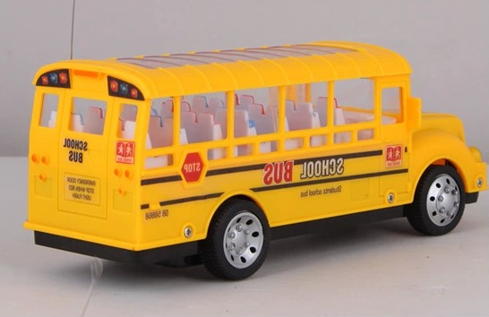 Yellow Kids 1:48 Scale Full Functions U.S School Bus Toy