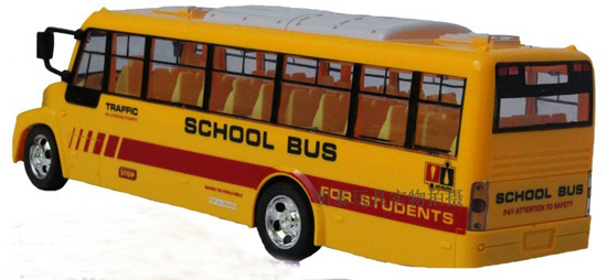 Kids Bright Yellow Large Scale R/C School Bus Toy