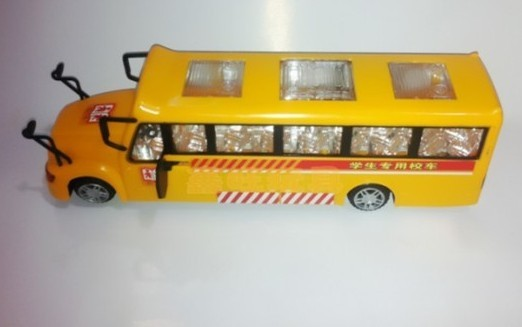 Kids Yellow Plastics Electric School Bus Toy