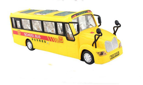Kids Yellow Large Scale Plastics Electric School Bus Toy
