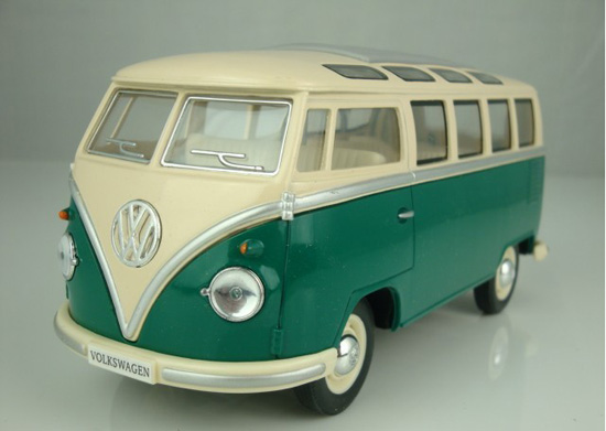 Kids Green / Blue / Red Die-Cast 1962 VW Bus Toy