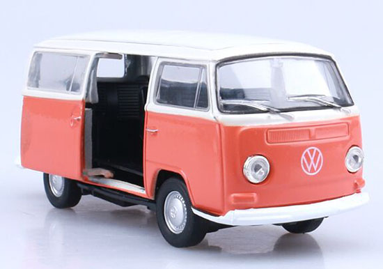 Kids Blue / Orange 1:36 Scale Welly Die-Cast 1972 VW T2 Bus