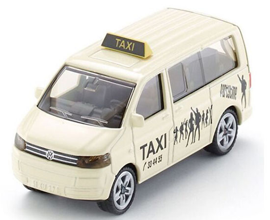 Kids 1:87 Scale Creamy White SIKU 1360 VW T5 Taxi Toy