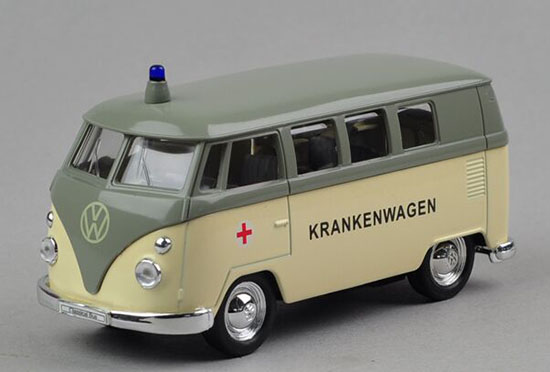 Welly 1:36 Scale Die-Cast 1962 VW Bus Toy Ambulance Theme
