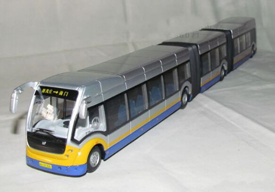 Red /Silver 1:50 LION-TOYS Diecast Super Cruiser Articulated Bus