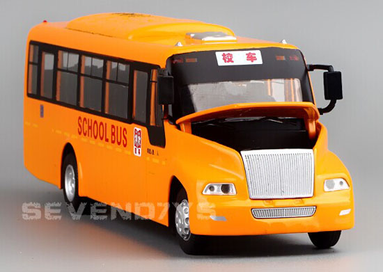 Kids Yellow 1:32 Scale Die-Cast Big Nose School Bus Toy
