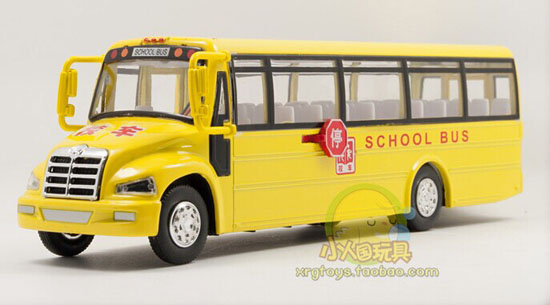 Bright Yellow Kids Chinese Die-Cast School Bus Toy